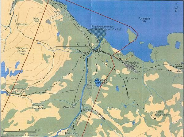 瑞典阿比斯庫國家公園步道圖