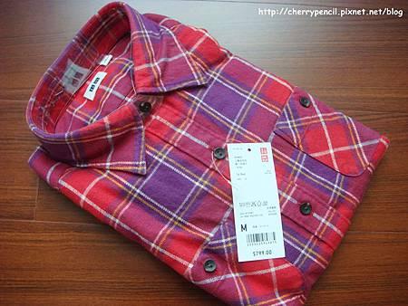 UNIQLO法蘭絨格紋襯衫-2