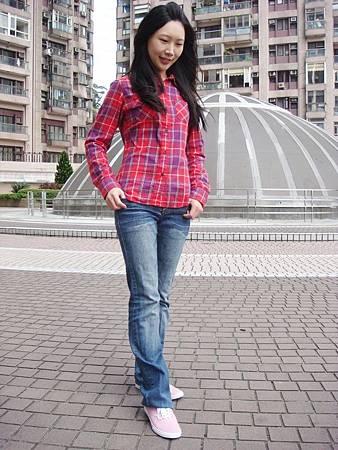 UNIQLO法蘭絨格紋襯衫-8
