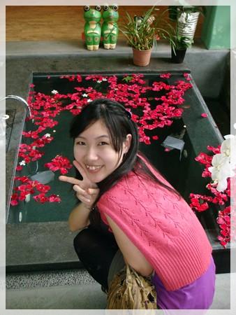 這邊還有玫瑰花池呢... 哈哈~ 只是用來看的啦:P
