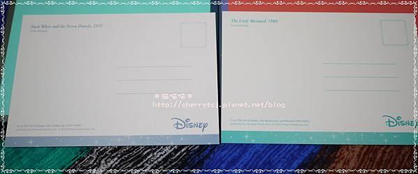 明信片-Disney套組2款-寫字面