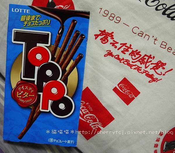 樂天TOPPO微苦巧克力棒