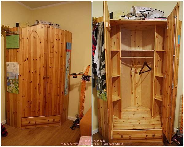 德國bnb住一晚-房內衣櫃