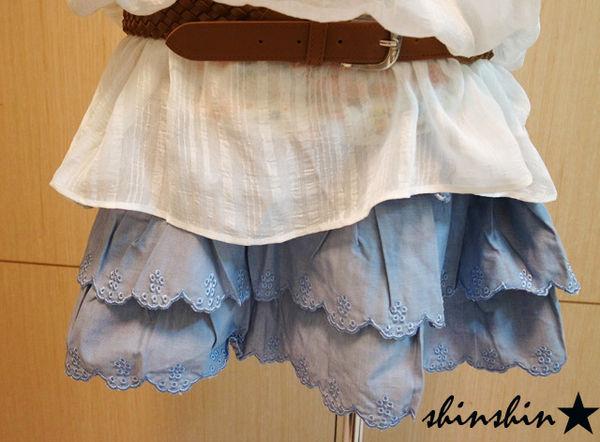 shin*2010夏折扣-高質感雕花蛋糕裙-3