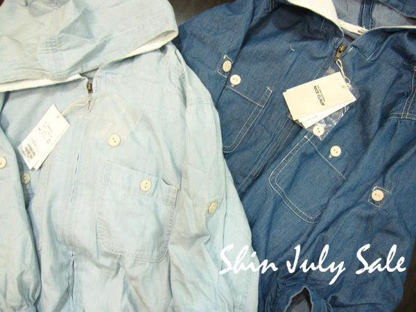 shin*2010夏折扣-NICE CLAUP連帽口袋五分袖小外套(深藍)-1