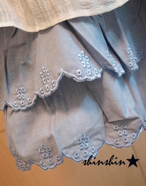 shin*2010夏折扣-高質感雕花蛋糕裙-4
