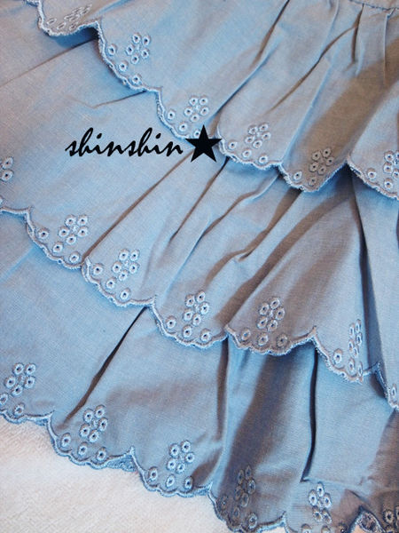 shin*2010夏折扣-高質感雕花蛋糕裙-5