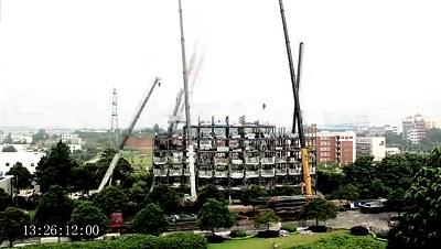 6天蓋出一座15層賓館 - 中國 6天蓋出一座15層賓館(2).jpg