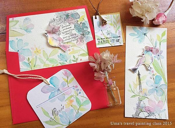 flower paper card