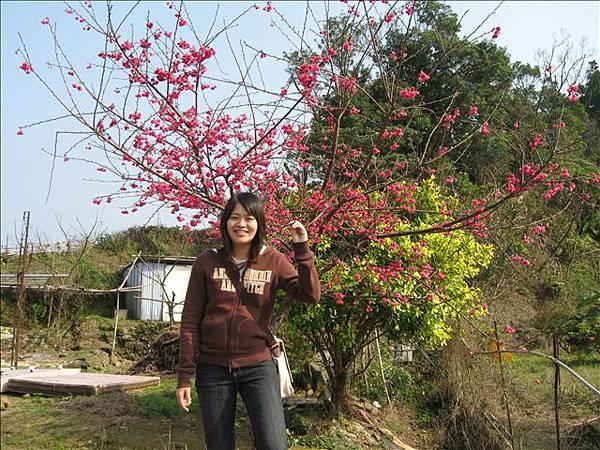其實我手上握的那根樹枝上有毛毛蟲!!!
