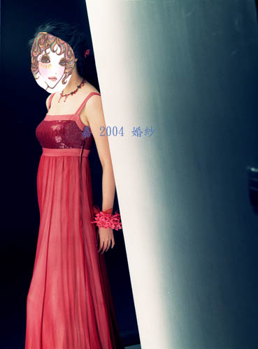婚紗 紅禮服 2