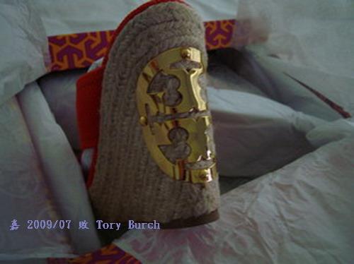 TORY BURCH--鞋跟LOGO