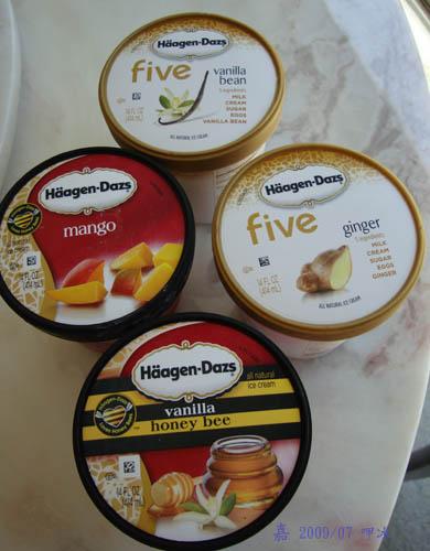 Häagen-Dazs-芒果+香草+蜂蜜+薑