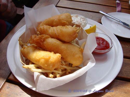 炸魚條+薯條