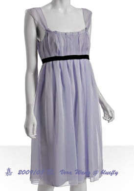Vera Wang--Lilac empire dress-正面
