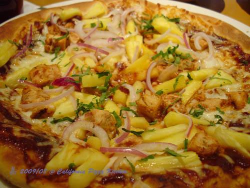 加州披薩廚房--Hawaiian+BBQ chicken pizza