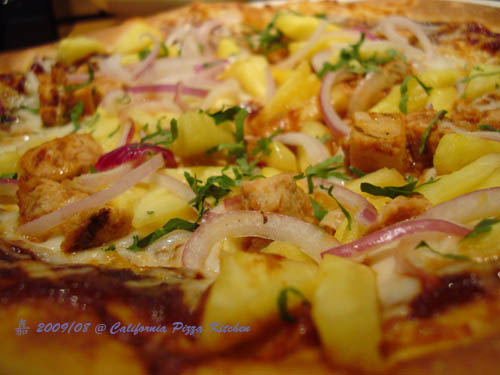 CPK-HAWAIIAN + BBQ PIZZA