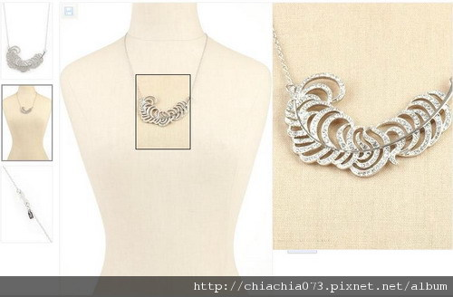 KJL crystal leaf necklace