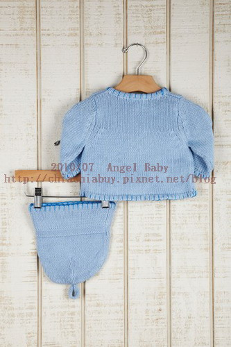 Angel Dear INFANT Hand Knit Sweater and Hat Set Blue 4.jpg