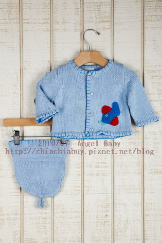 Angel Dear INFANT Hand Knit Sweater and Hat Set Blue 3.jpg