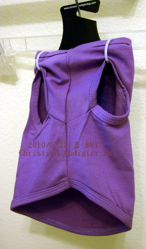 Christian Audigier 紫色和平鴿背面