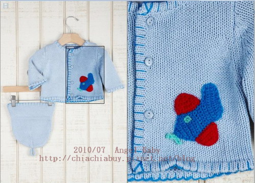 Angel Dear INFANT Hand Knit Sweater and Hat Set Blue 5.jpg