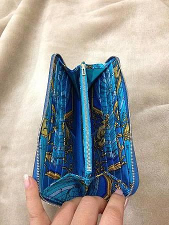 希臘藍絲巾長夾2