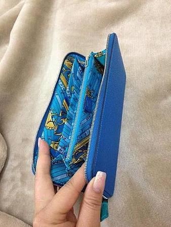 希臘藍絲巾長夾1