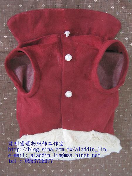 紅色刷毛有領襯衫04.JPG