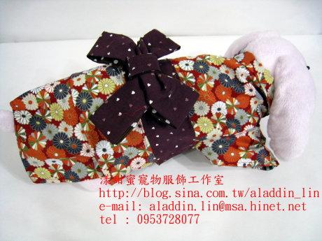 菊花圖樣狗狗日本服05.JPG