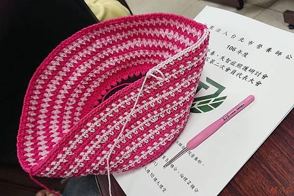 2017棉線編織袋4-草莓隨身小提袋.JPG