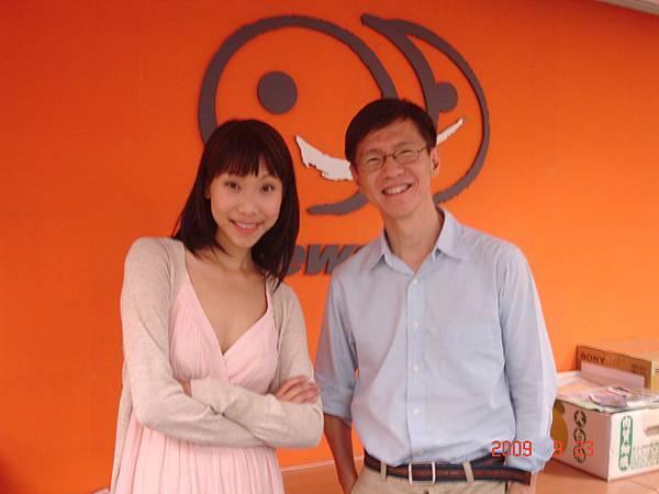 胡婷婷與王文華在NEWS98