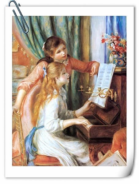 彈鋼琴的少女