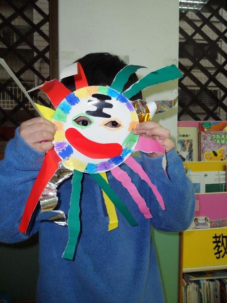 小班美勞-獅子面具