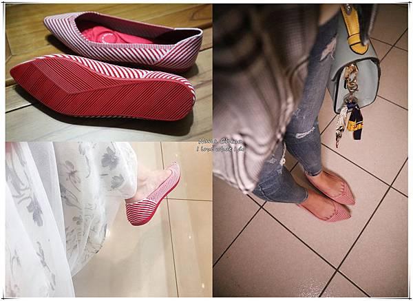 astyle 視覺幻化系列 百搭細緻線條修飾尖頭飛織平底鞋-紅03.jpg