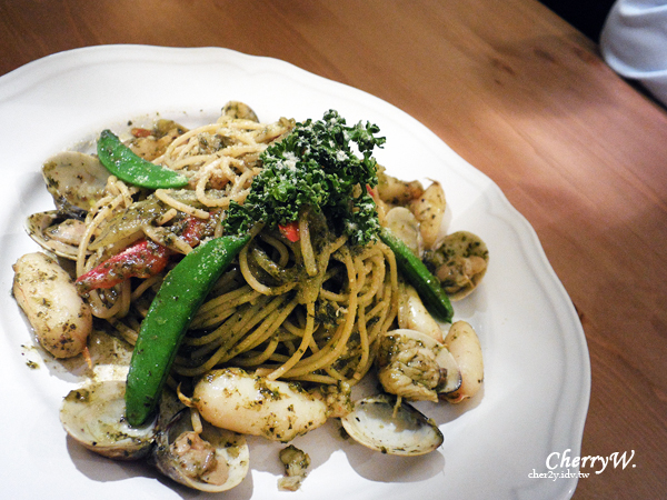 瑞彼特早午餐-蛤蠣蟹肉義大利麵01