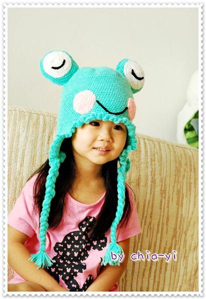 鉤針青蛙帽第二款