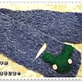 手鉤青蛙嬰兒圍巾2.JPG
