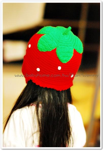 鉤針草莓帽