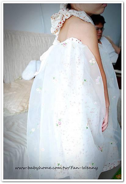 縫紉獨家設計作品~活動式玫瑰+髮帶+花童裝