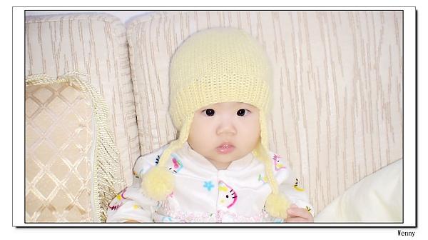 棒針~嬰兒飛行帽