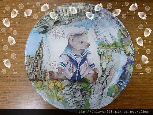 筱芬的玻璃盤