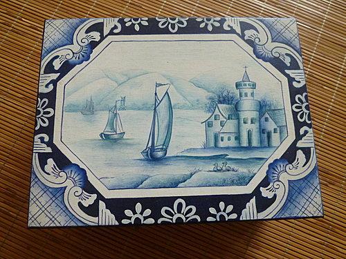 Delft blue木盒