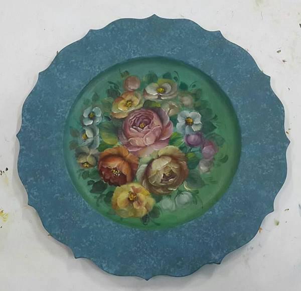 14吋花邊圓盤