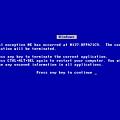 blue screen(BSOD、死亡藍幕、藍底白字、藍色畫面)