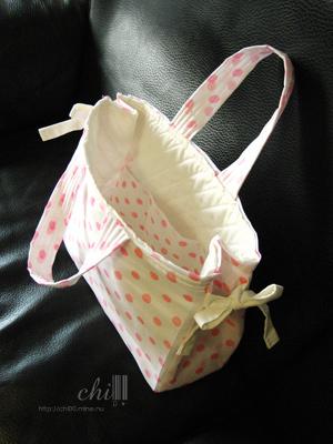 粉紅水玉點點A4大托特包