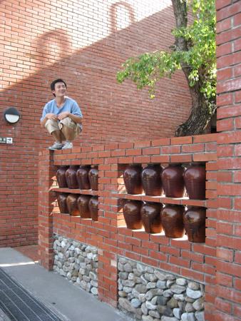 2008 宜蘭之旅 傳藝中心 牆上的咻