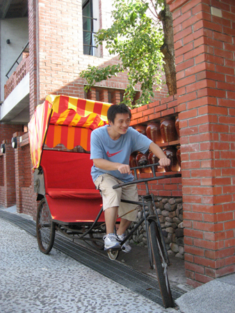 2008 宜蘭之旅 傳藝中心 苦力騎車