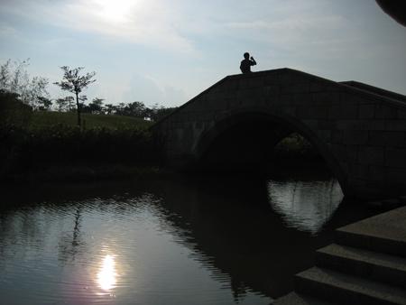 2008 宜蘭之旅 傳藝中心 橋上的咻