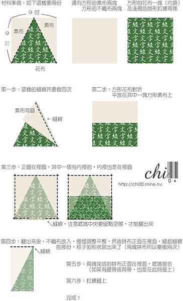綠文字粽子包 教學